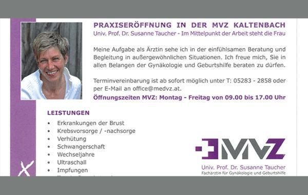 Inserat Heimatstimme – Dr. Taucher